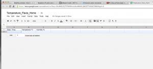 Creazione spreadsheet