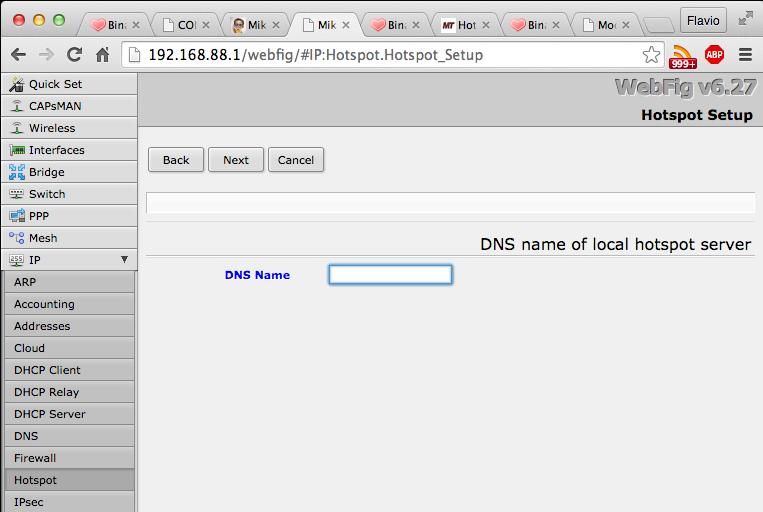 Server DNS locale